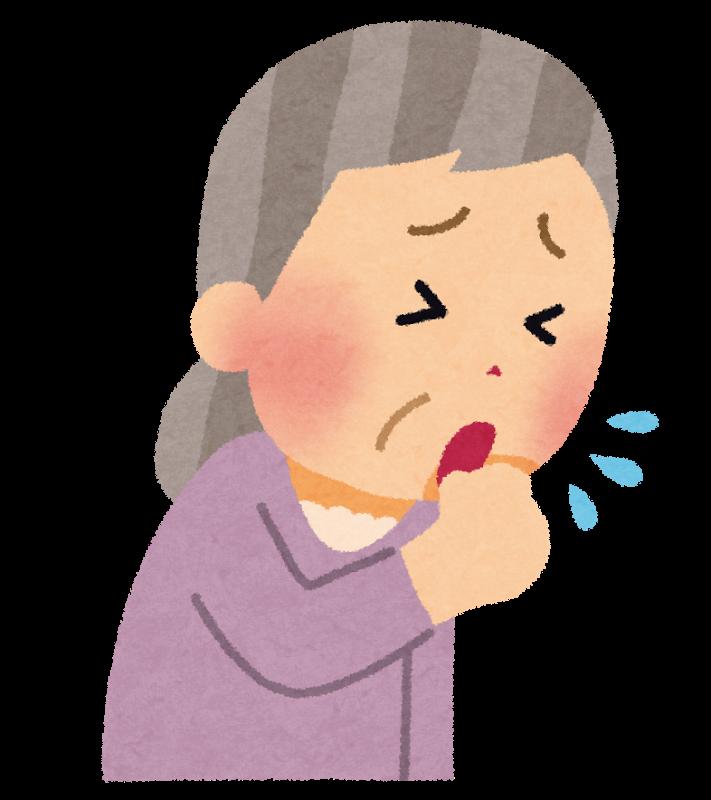 咳が止まらない老人